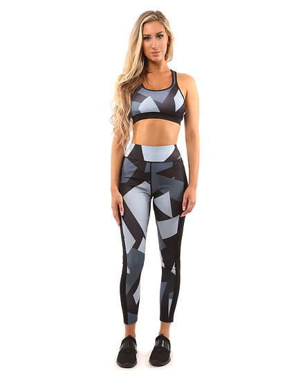 Bondi Set - Leggings & Sports Bra - Black/Grey