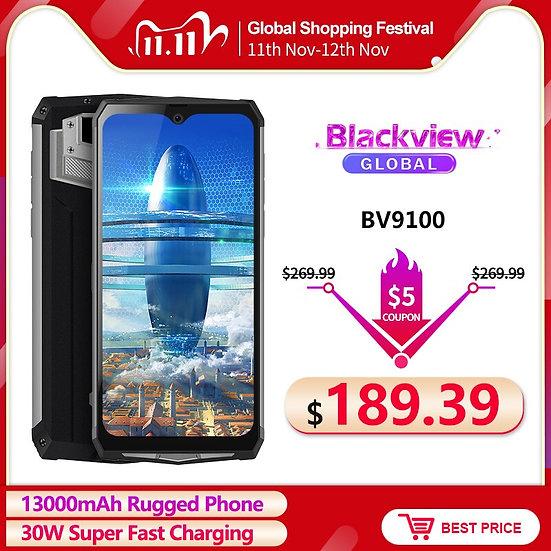 Blackview BV9100 6.3'' FHD+ 13000mAh IP68 Rugged Smartphone 4GB 64GB Helio P35