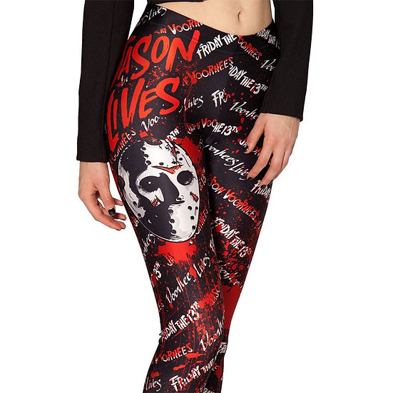 Fashion Ladies Women Skull Legging Woman Jeggings Legings Fitness Legging Pant