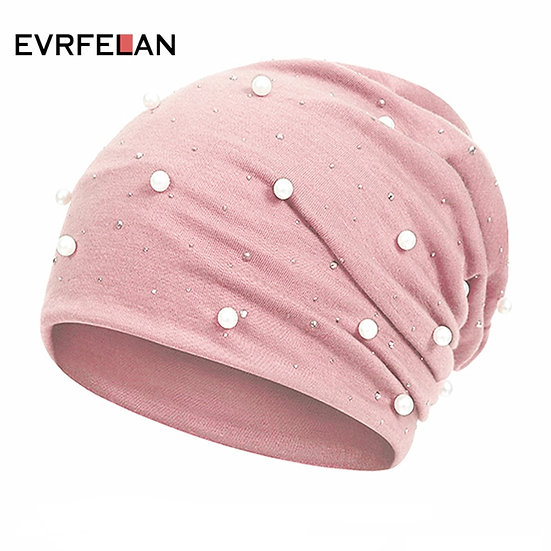 Evrfelan Fashion Autumn Winter Beanie Hat for Ladies Knitted Skullies Hat Women