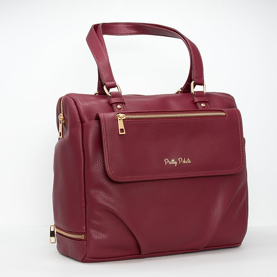 Ajanta Diaper Bag Tote (Bundle) - Burgundy