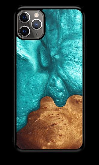 Slim Resin & Wood Phone Case | Deep Sea Green
