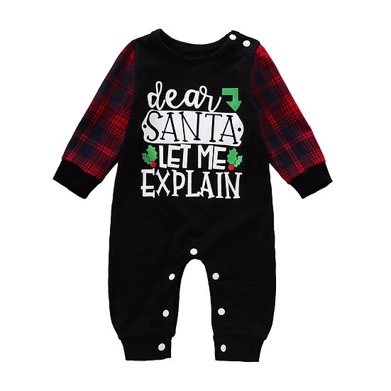 Christmas Baby Clothes Spring Autumn Long Sleeved Romper Newborn Infant Baby Boy