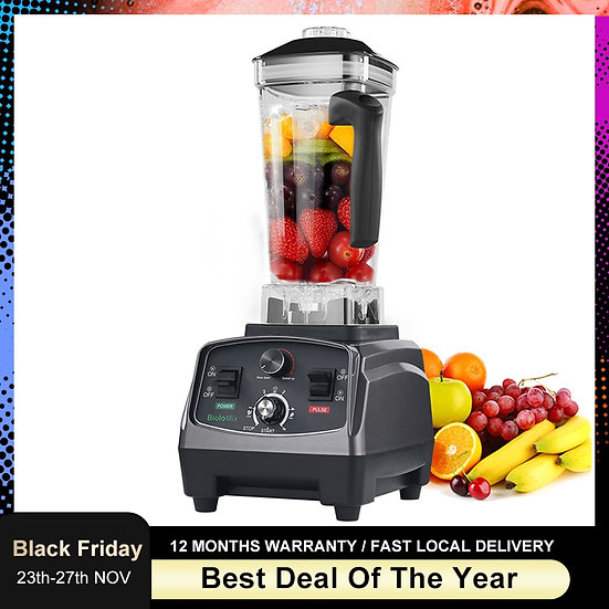 3HP 2200W Heavy Duty Commercial Grade Automatic Timer Blender Mixer