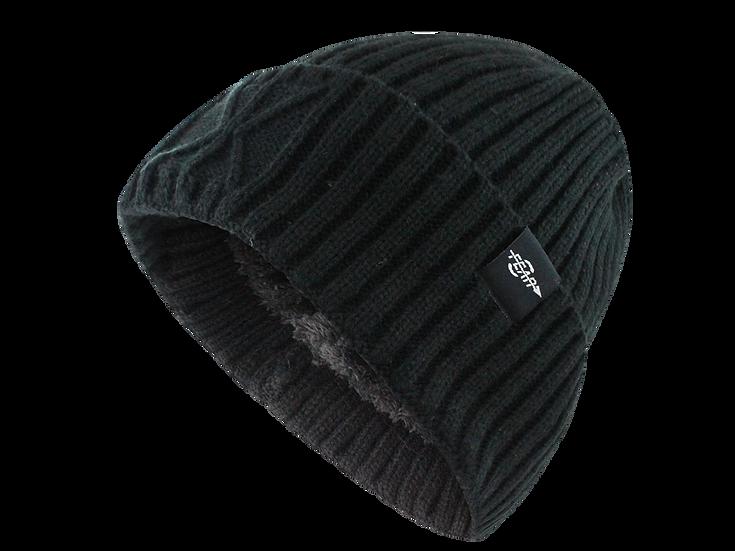 Fear0 Extreme Warm Black Cuff Winter Sport Skullies Watch Cap Beanie Hat Men