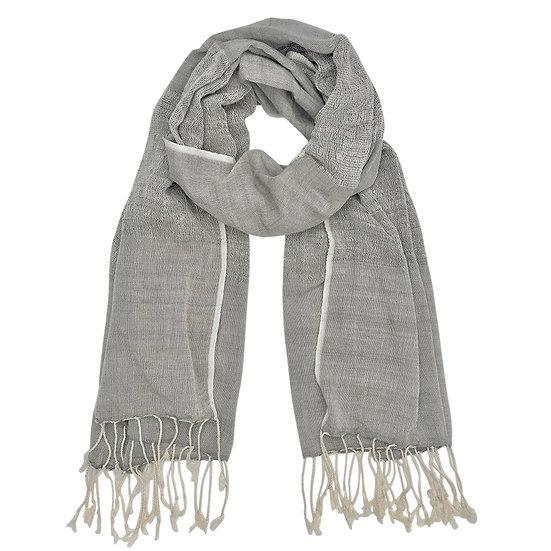 Gray Organic Cotton Gauze Scarf