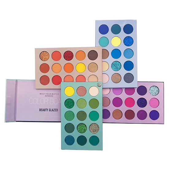 Beauty Glazed Eyeshadow Palette Colorful Eye Shadow Palette Glitter Highlighter