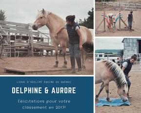 Félicitations Delphine et Aurore!