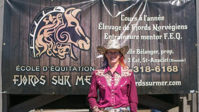 Isabelle Bélanger, présidente du Cowboy Extrême du Bas-Saint-Laurent