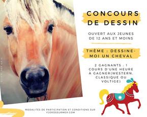 Concours : Dessine-moi un cheval! (12 ans et moins)