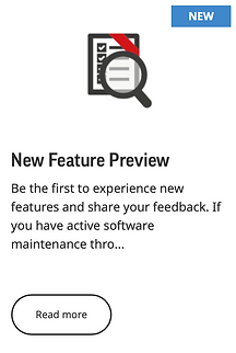 New Feature Preview