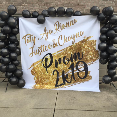 Custom Prom Backdrop