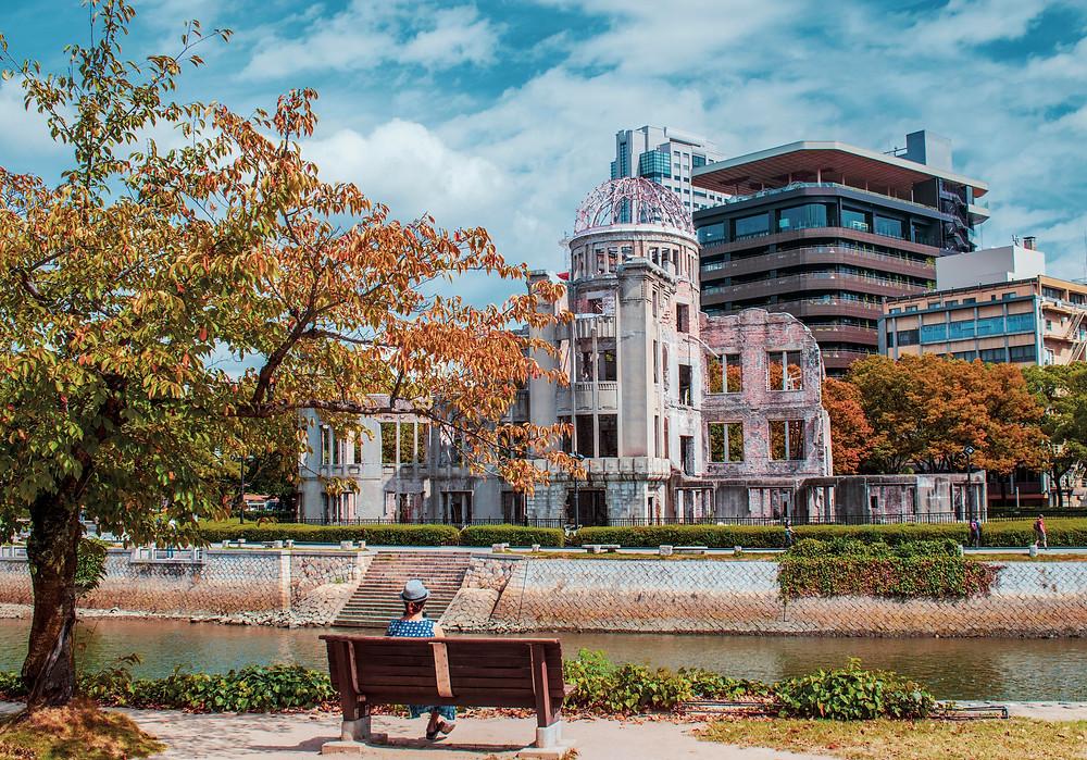 hiroshima atomic dome genbaku fall autumn