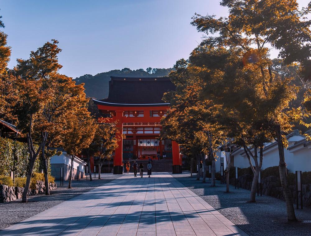 kyoto fushimi inari fall koya