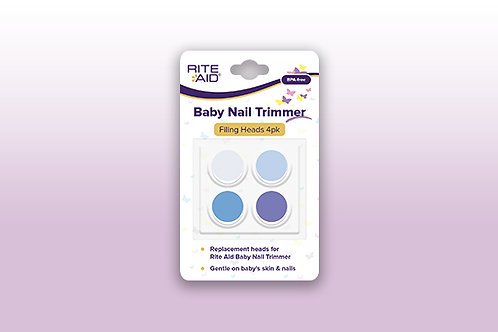 Rite Aid Baby Nail Trimmer Filing Heads 4pk