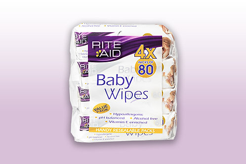 Rite Aid Baby Wipes Value Pack (4 x 80s)