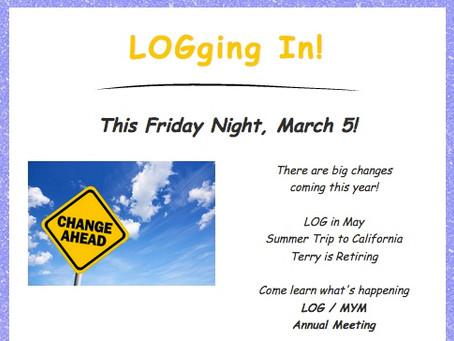 LOGging in! 3/3/21