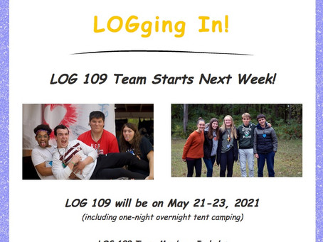 LOGging In! 3/10/21
