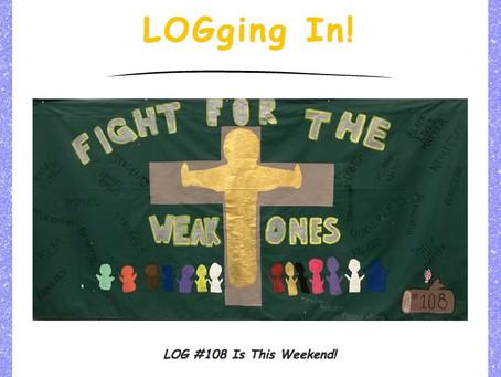 LOGging In! 10/7/20