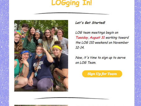 LOGging In! 8/18/21