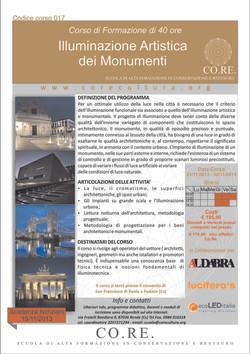 Illuminazione artistica monumenti