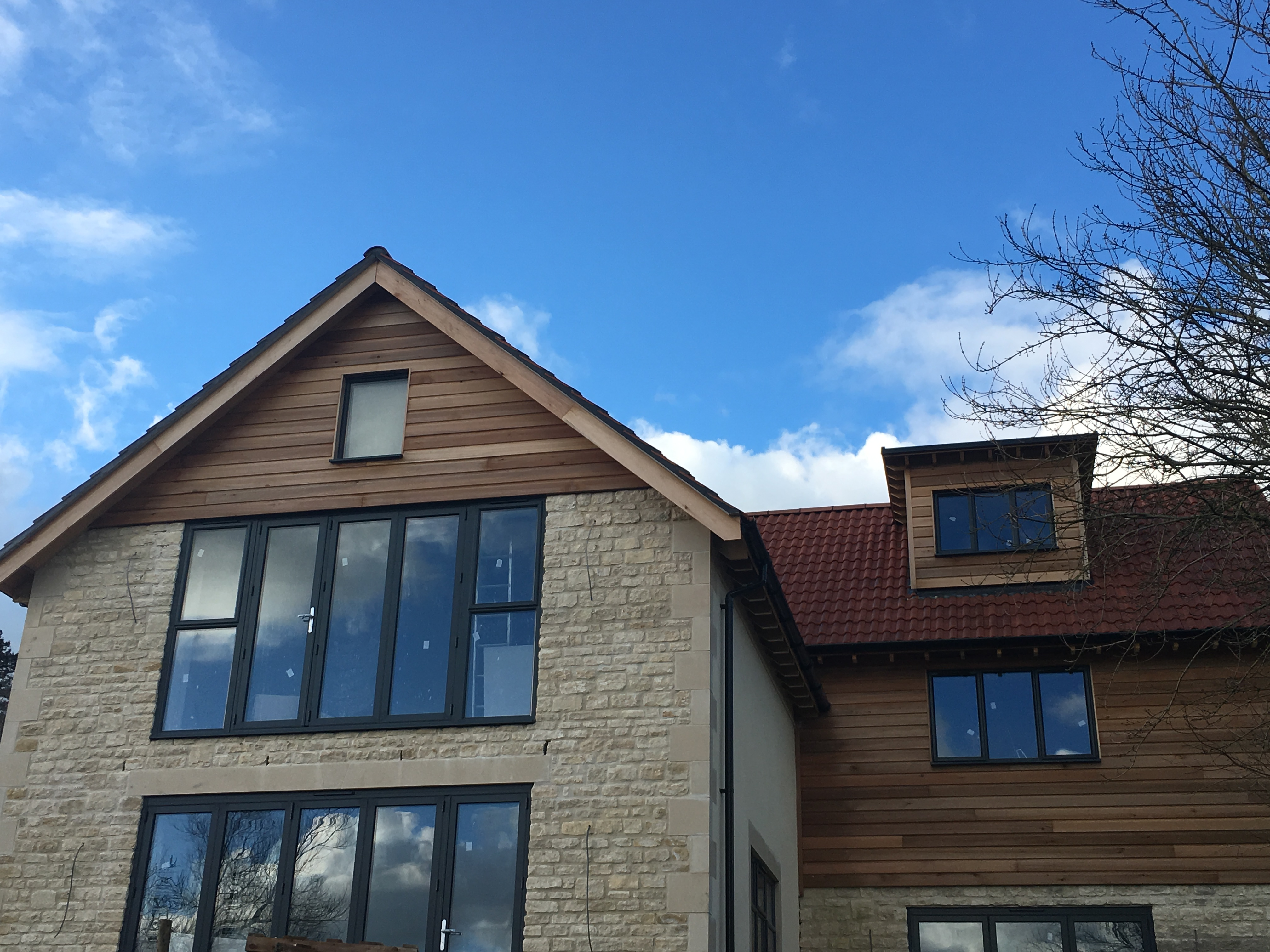 Rubble stone & Timber Cladding