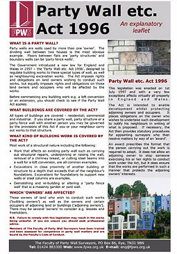 Faculty of Party Wall Surveyors Guidance
