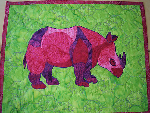 Darling Rhino Fabric Kit and Edith Choiniere Design Pattern
