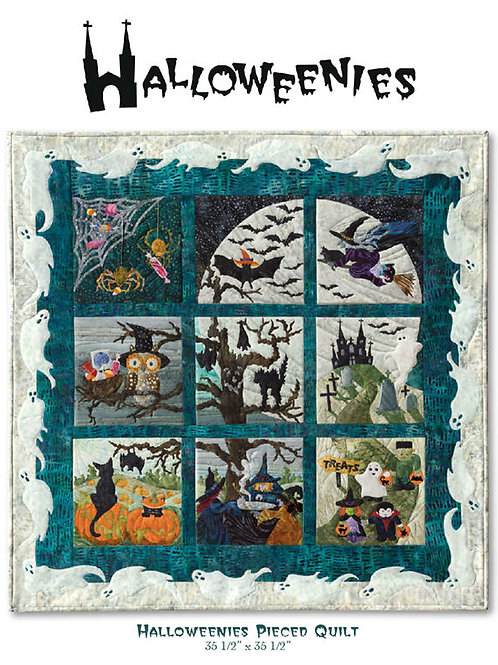 Halloweenies, Complete Set of 9, Block #1 through #9, McKenna Ryan Patterns