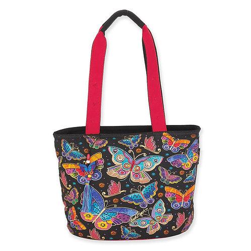 Butterfly Medium Handbag Oval Bottom by Laurel Burch