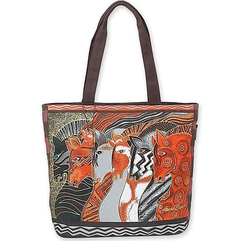 Moroccan Mares Small Handbag Tote Purse By Laurel Burch