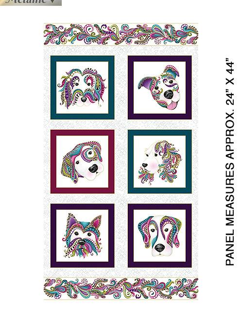Dog Gone It Fabric Dog Panel