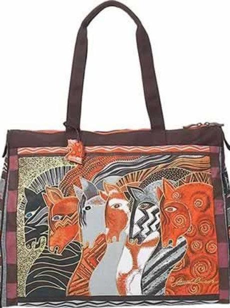Moroccan Mares Horse Travel Bag by Laurel Burch