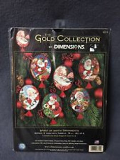 Spirit of Santa Ornament Counted Cross Stitch Gold Collection