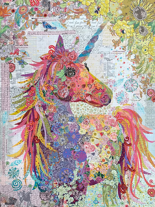 Nola Unicorn Collage Pattern by Laura Heine