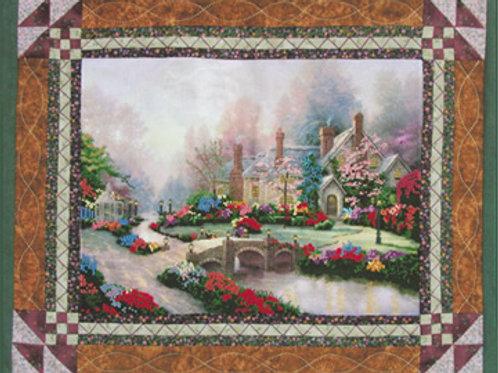 Stitch'N Quilt Beyond Spring Gate Thomas Kinkade Cross Stitch