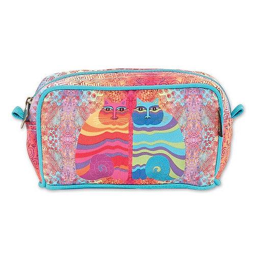 Rainbow Felines Cosmetic Bag By Laurel Burch