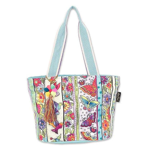 Butterfly Floral Medium Tote By Laurel Burch