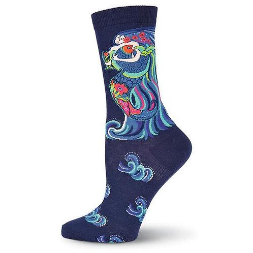 Dancing Mermaid Laurel Burch Womens Socks