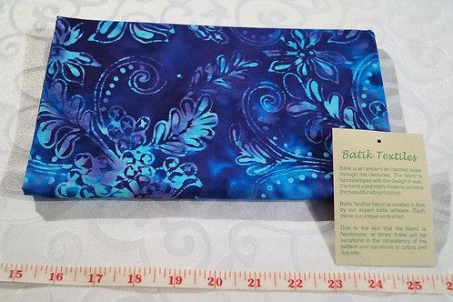 Bali Batik 1 Meter X 1 Yard  Cut of Tropical Purple & Blue