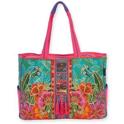 Floral Flora Oversize Tote by Laurel Burch