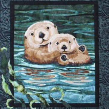 Sea Otter Fabric Quilt Kit, By Toni Whitney