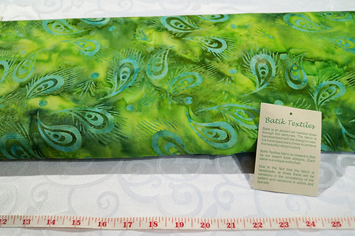 Bali Batik 1 Meter X 1 Yard  Cut of Paisley Green