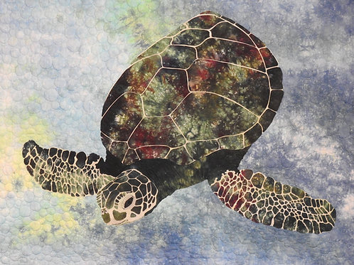Turtle Encounter Quilt Fabric Kit, By Sue Sherman