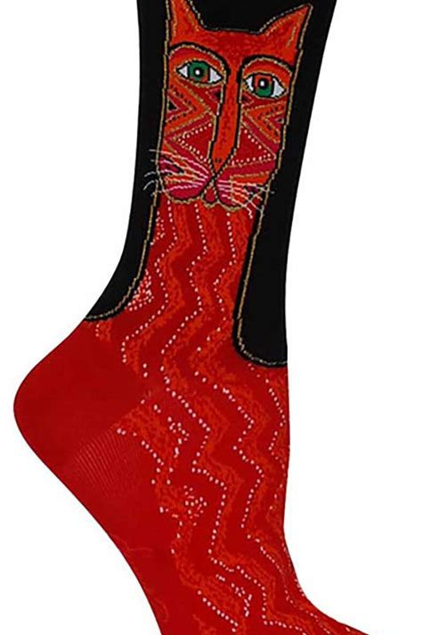 Laurel Burch Zig Zag Red Women's Socks