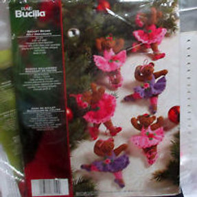 Ballet Bears Felt Ornament Kit by Bucilla Plaid
