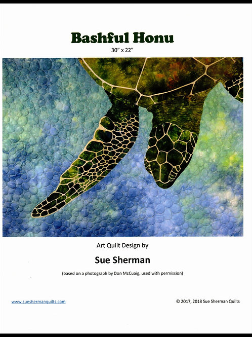Bashful Honu Fabric Quilt Kit by Sue Sherman