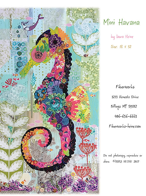 Mini Havana Seahorse Collage Pattern by Laura Heine