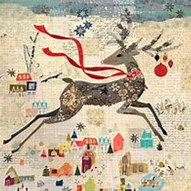 Peppermint, Laura Heine Collage Pattern Reindeer