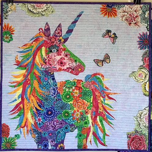 Fabric Unicorn Collage Nola Fabric Only
